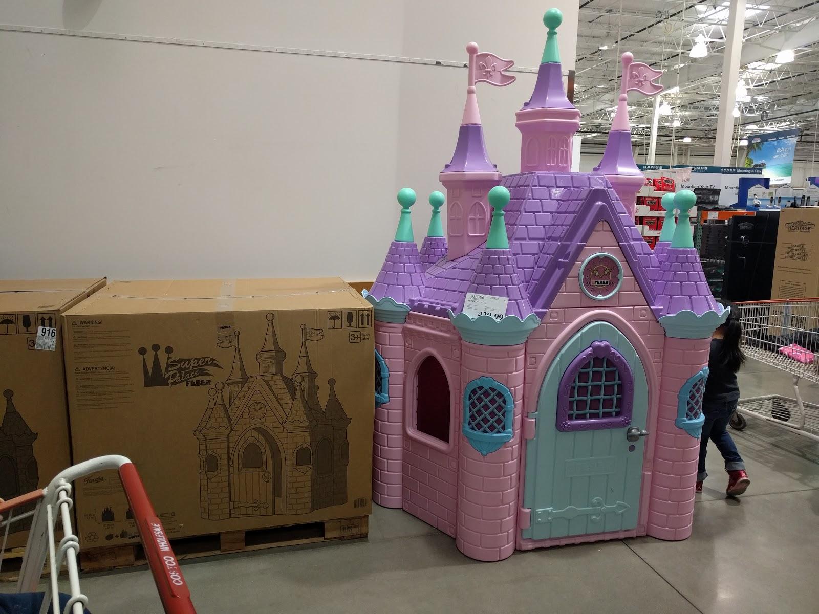 costco pink princess castle super palace