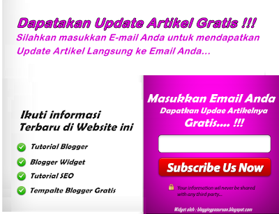 Cara Membuat Widget Subscribe Feedburner MELAYANG ( Pop-up ) di Blog