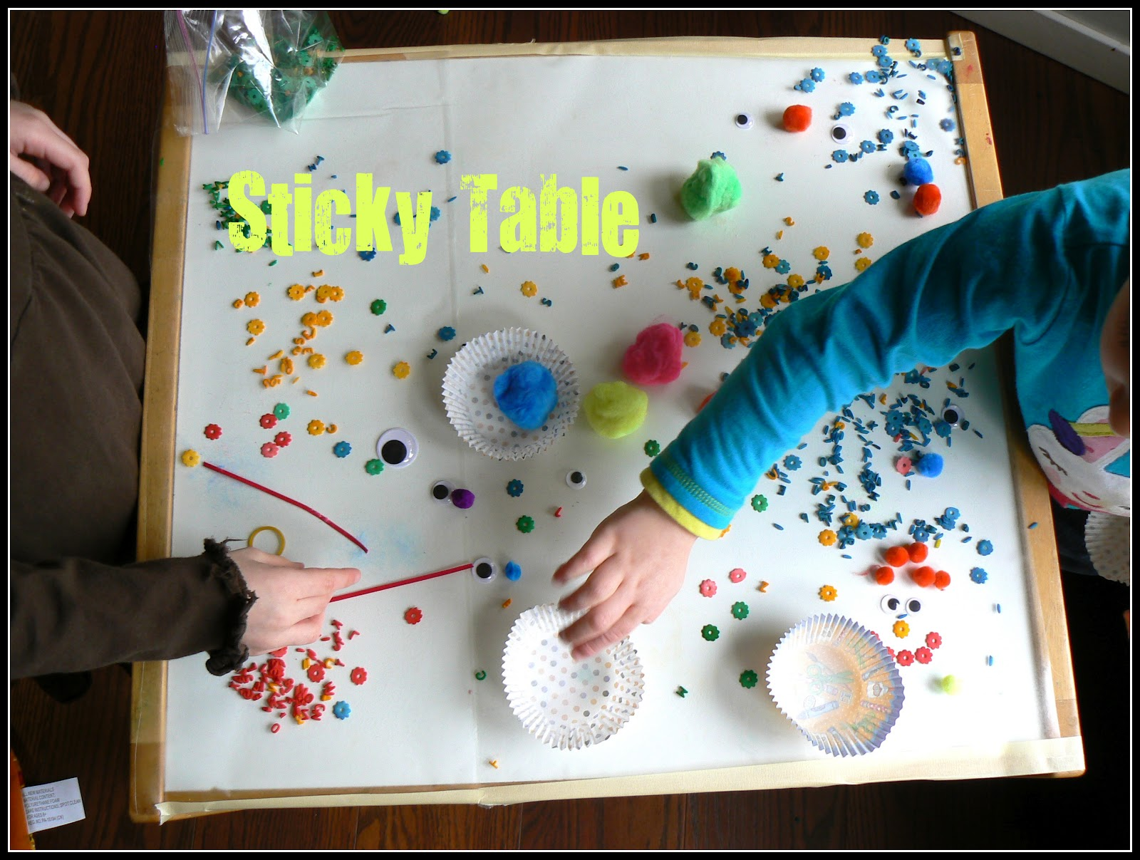 Having Fun At Home Sticky Table Ideas