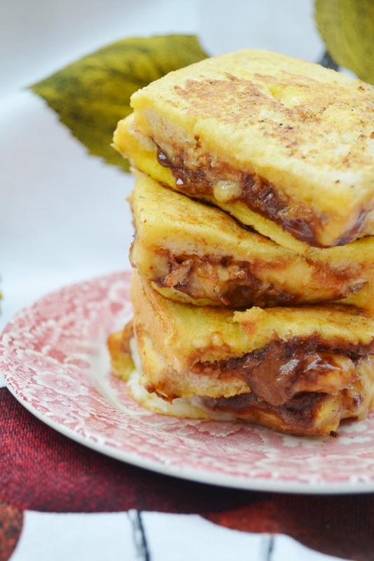 Peanut Butter, Nutella and Banana French Toast