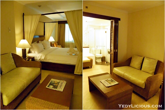 Living Room Lounge area Grand Deluxe Poolside Room at Boracay Mandarin Island Hotel