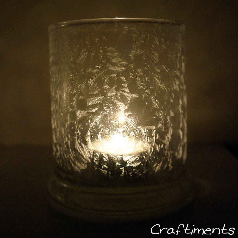 Craftiments:  Icy Epsom salt luminary