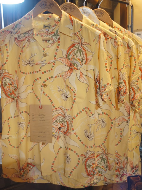 THE Y.M.WALK ON HAWAIIAN SHIRT D YELLOW