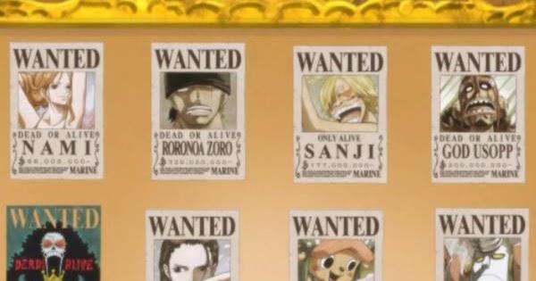 Daftar Harga Buronan One Piece Terbaru dan Poster Bounty