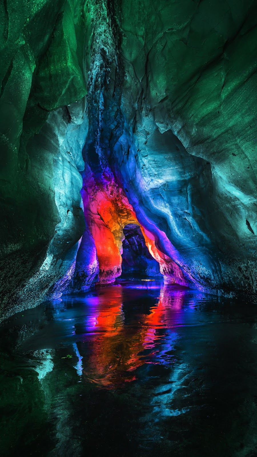 Colorful cave