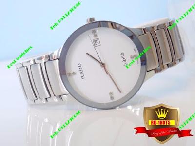 Đồng hồ nam dây inox trắng RD 1K0T5