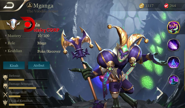 Arena of Valor : Hero Mganga ( The Voodoo Jester ) High Damage Builds Set up Gear