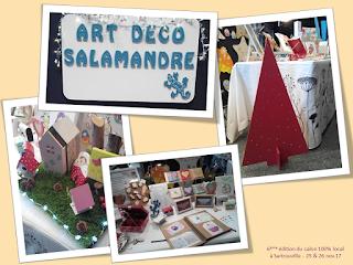 Salon 100 % local à Sartrouville création Art-déco Salamandre