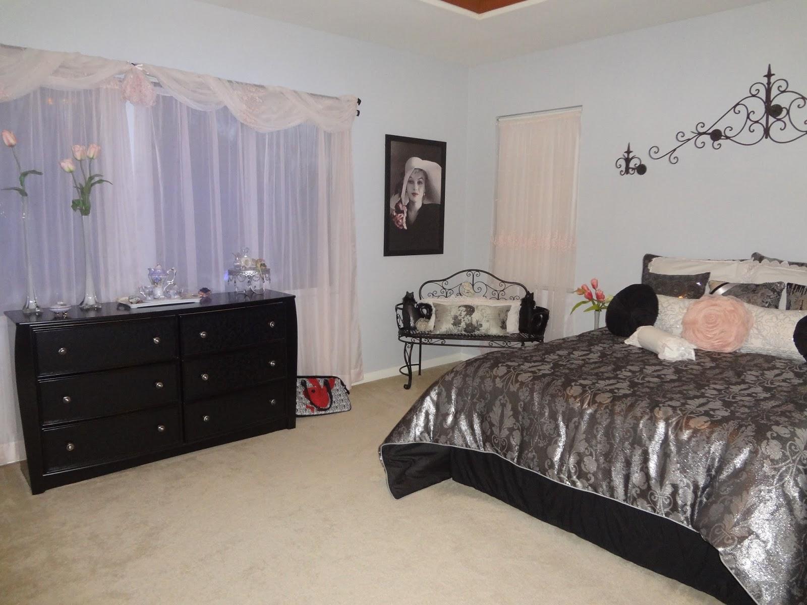 Design Specialist Hollywood Glam Bedroom Pale Pink Amp Black