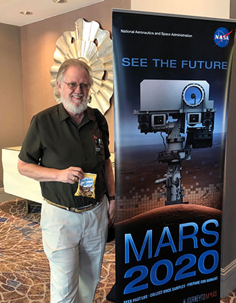 Resident Astronomer, AKA Citizen Scientist, and cookies at Mars 2020 Workshop (Source: Palmia Observatory)