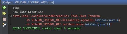 Contoh sederhana menggunakan Keyword Throws