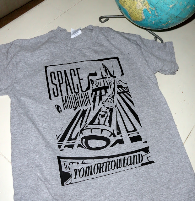 Space Mountain Tomorrowland vintage t-shirt for Disneyland