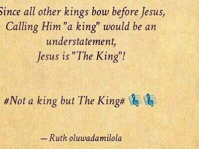 [MUSIC]: Ruth Oluwadamilola - Not a King but the King