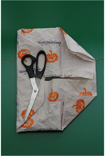 folding halloween wrapping paper