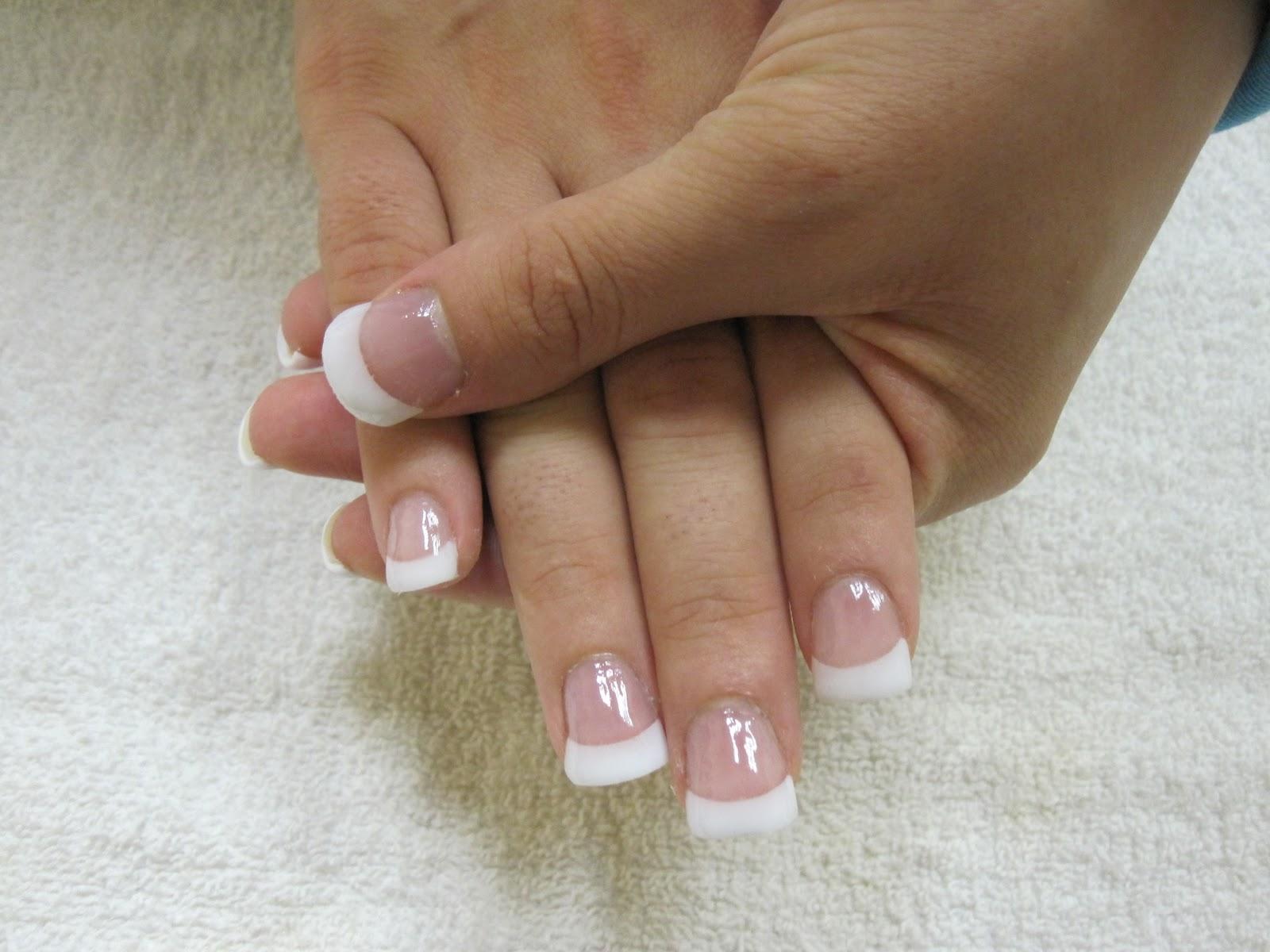 Nail Art Las Vegas: Pink and White Nails Las Vegas
