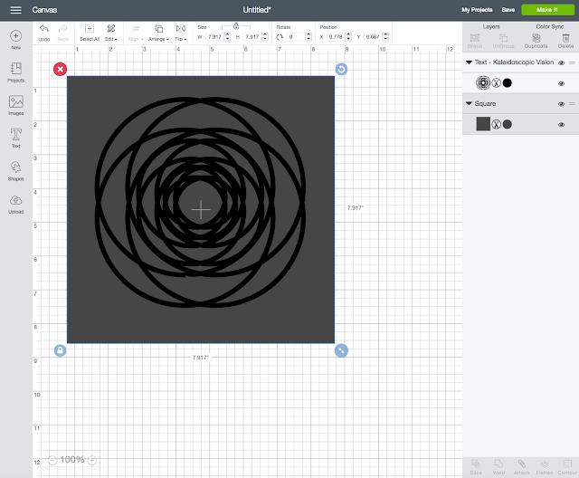 Layout Hintergrund mit Design Space erstellen