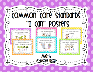 Mrs  Ricca's Kindergarten: Common Core Math Posters FREEBIE