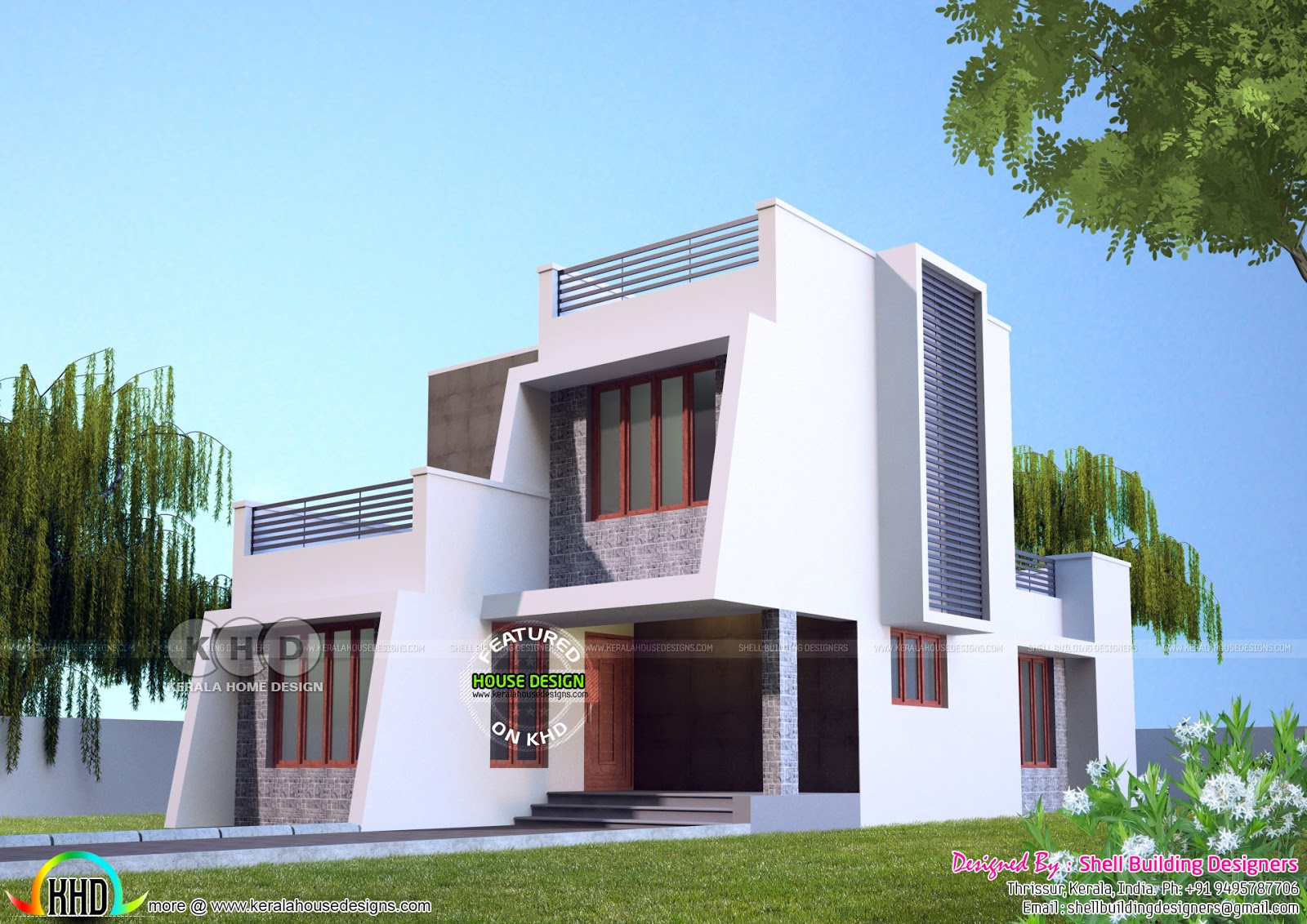 160 Square Meter Small Double Storied Home Kerala Home Design