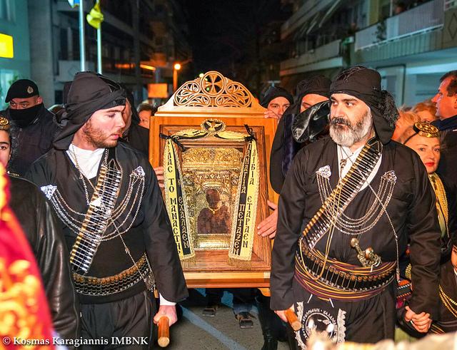 Η Καλαμαριά υποδέχθηκε την εικόνα της Παναγίας Σουμελά