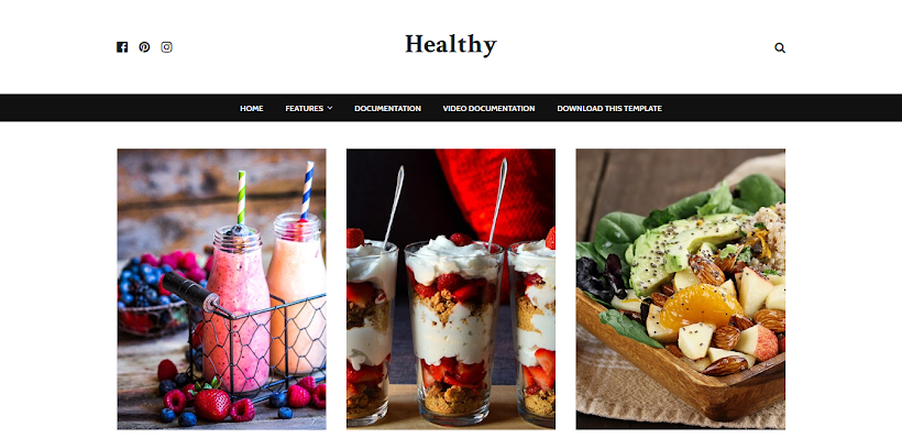Healthy Free Blogger Template