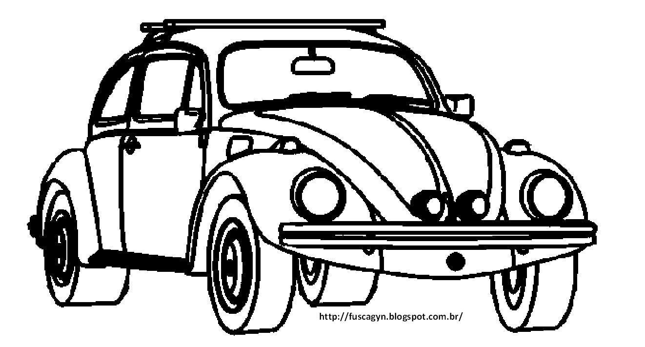 Desenho De Fusca: Fusca Gyn: FUSQUINHA PRA COLORIR / FUSCA PARA COLORIR
