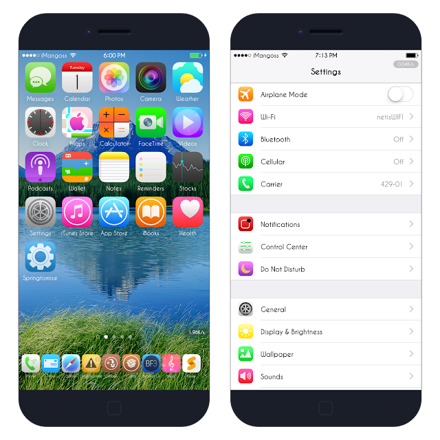 """Vertu"" is a complete iOS theme for iPhone & iPod Touch running iOS 7 – iOS 9. It includes more than 90 icons for your games & applications with a new sound UI."