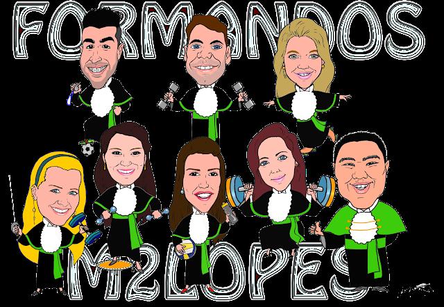 Caricatura de formando - Contato: m2lopes@hotmail.com