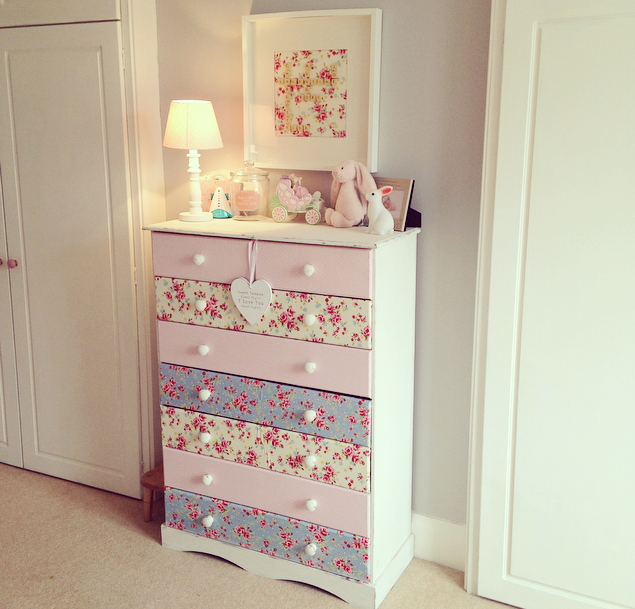 DIY Makeover  Decoupage Chest of Drawers  The Home That