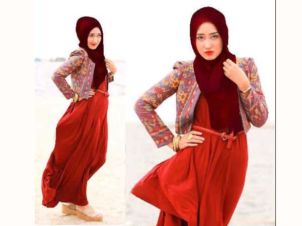 Model Baju Gamis Songket Desain Dian Pelangi Terbaru ...