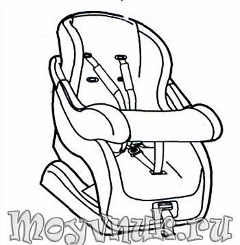 Детское кресло в машину, инструкция