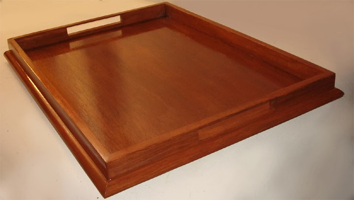 Beautiful Trays For Ottomans 24x32 Colonial Maple Ottoman