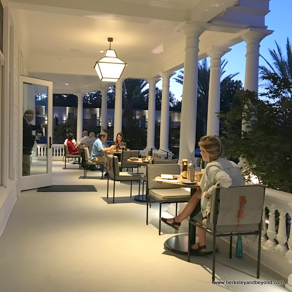 porch dining at Acacia House restaurant in St. Helena, California