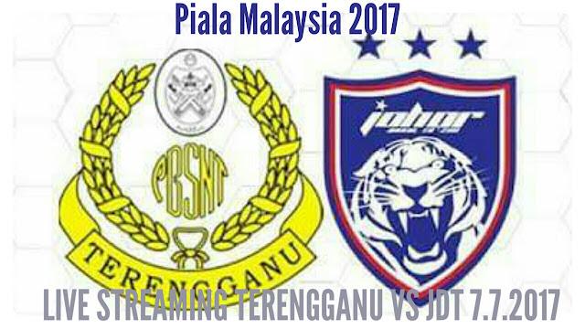 Live Streaming Terengganu vs JDT 7 julai 2017 Piala Malaysia