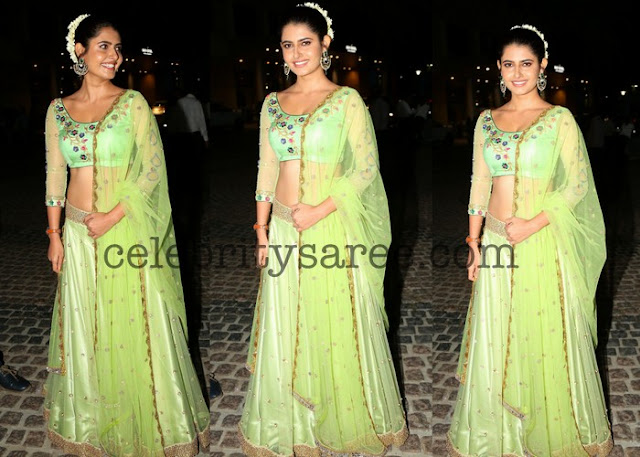 Ashima Narwal Neon Green Lehenga