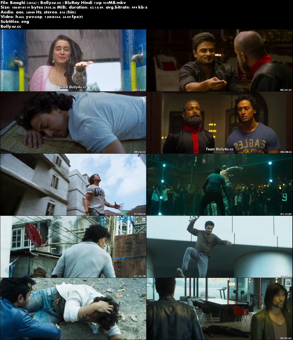 Baaghi 2016 BluRay 950MB Full Hindi Movie Download 720p