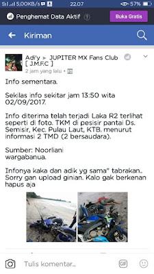 Vixion Pantai Desa Semisir, Pulau Laut, Kota Baru, Kalimantan Selatan MX King Pantai Desa Semisir, Pulau Laut, Kota Baru, Kalimantan Selatan