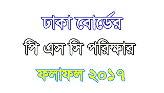 PSC Result 2017 Dhaka Education Board