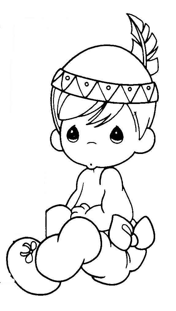precious moment baby coloring pages - photo #11
