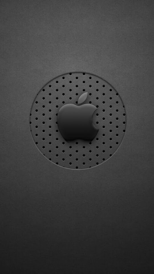 Black Dots Apple Logo  Galaxy Note HD Wallpaper