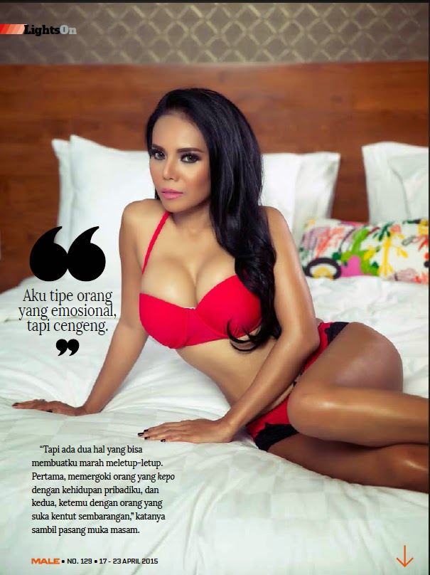 IGHTS ON: Nayla Lisa Hot Pictures - Male Magazine April 2015