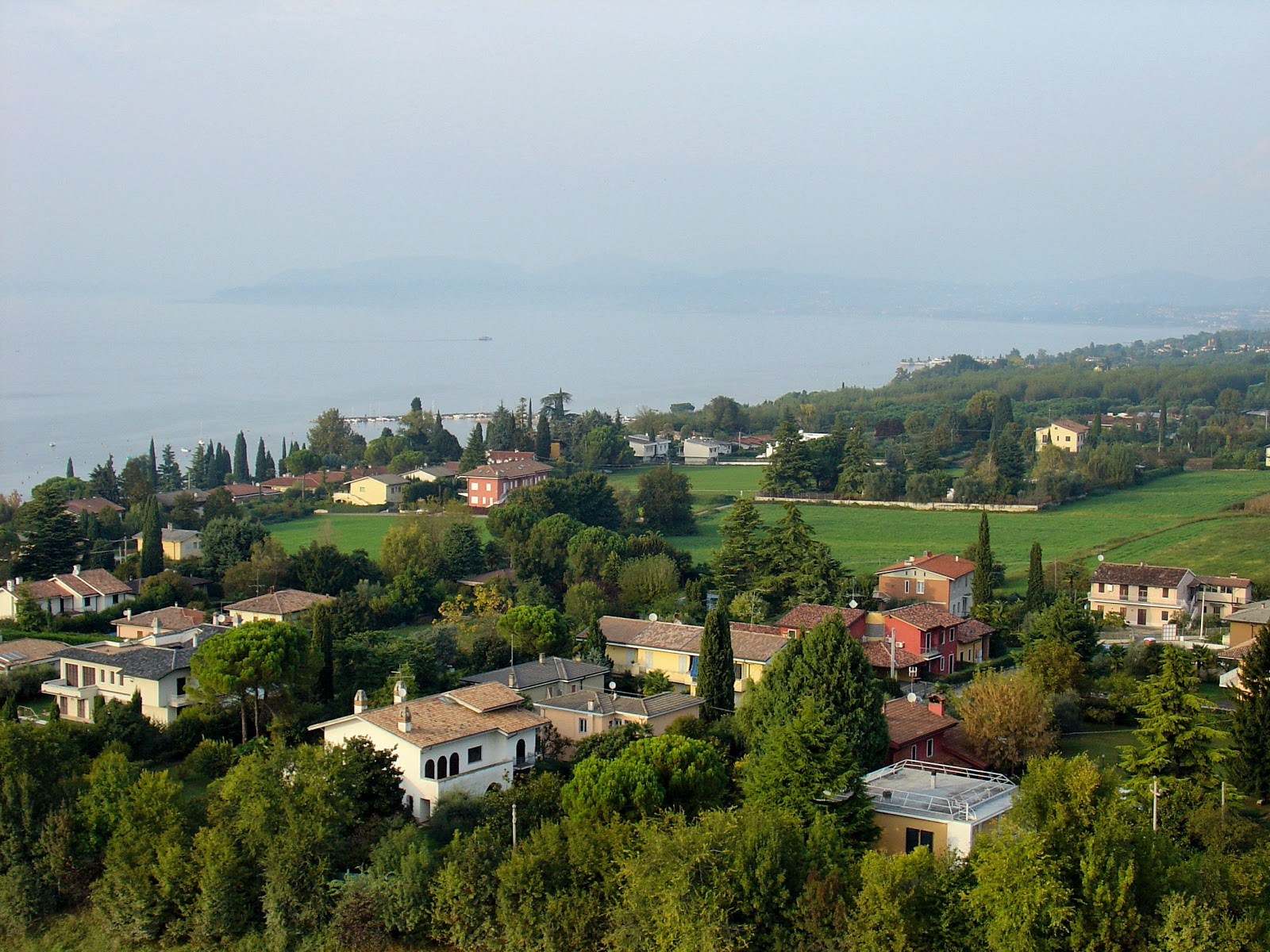 Bird's-eye views of Lake Garda and surrounding neighborhoods can be seen high atop the Flying Island.