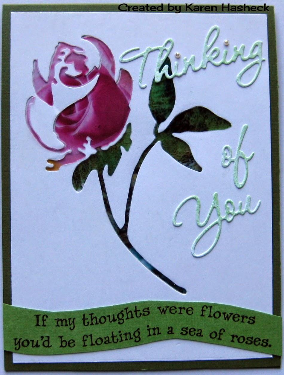 Karen's Kreative Kards: Thinking of You Rose Card