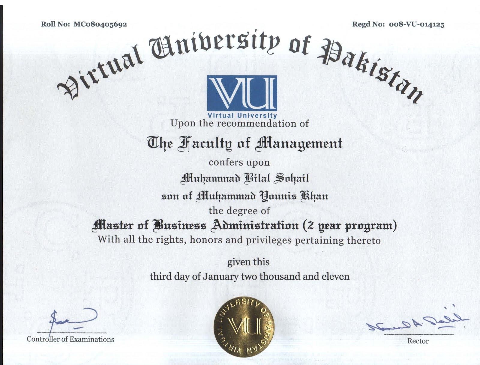 Mba Degree Mba Certificate Vs Mba Degree