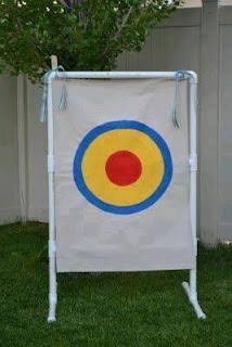 Ideas con tubos de PVC - juego de tiro al blanco