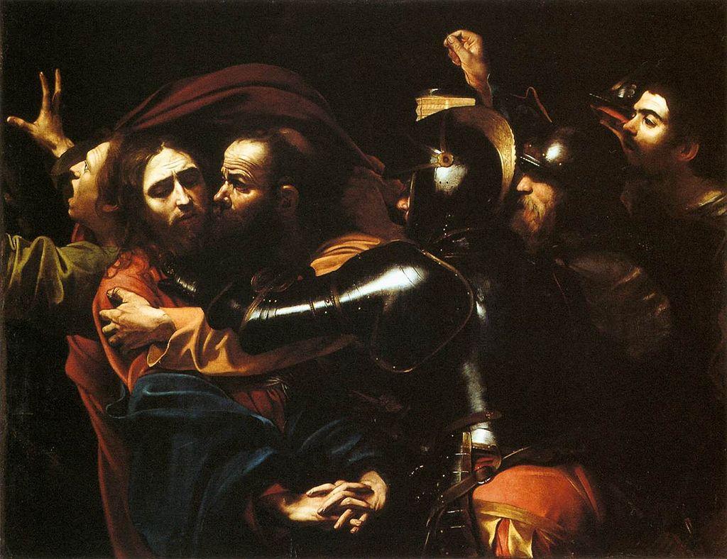 A Captura de Cristo - Pinturas com temas tirado da bíblia