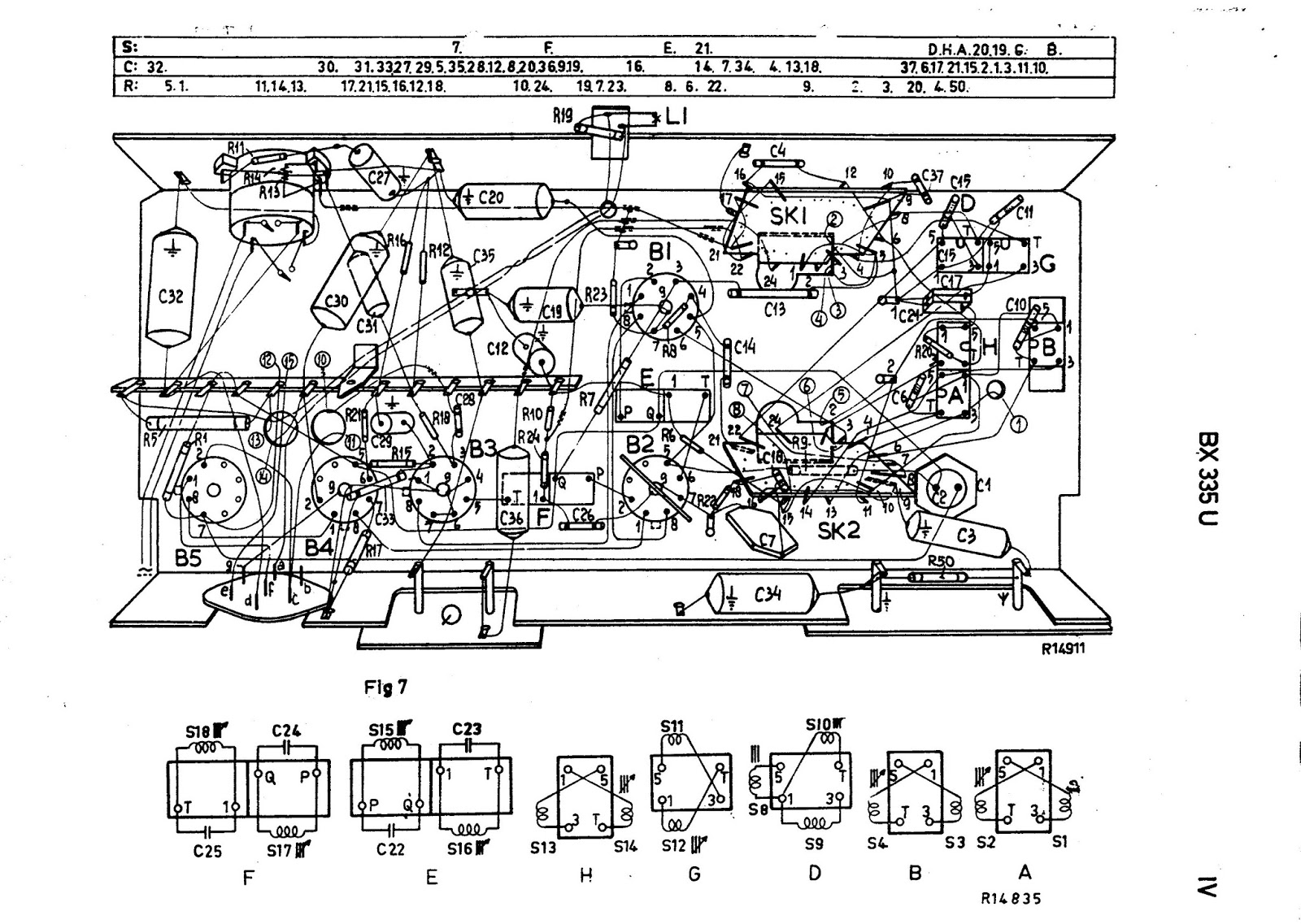 Os rádios do Claudino: Rádio Philips modelo BX335U