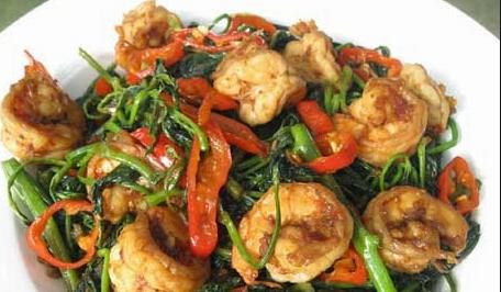 Resep Masakan Sederhana Cah Kangkung Udang