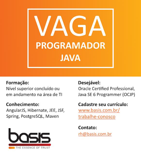 Emprego para Programador Java