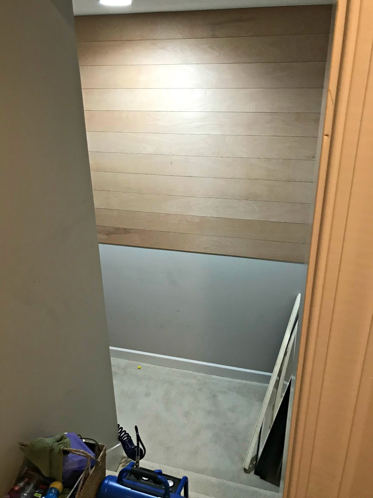 Inexpensive way to plank a wall with wood