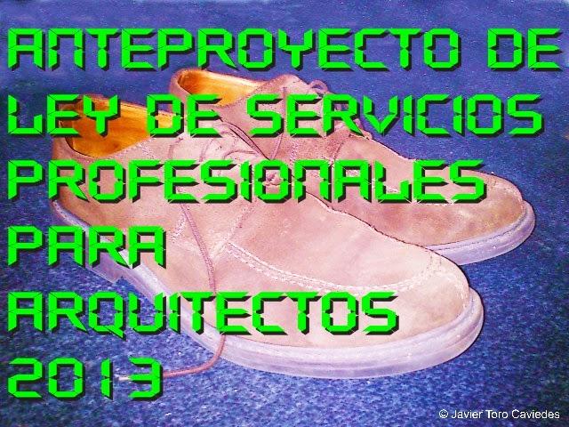 anteproyecto ley servicios profesionales arquitecto 2013